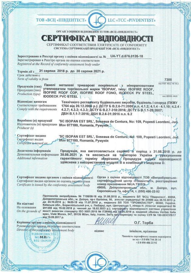 Сертификат кровеля минвата