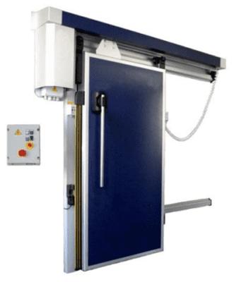 Холодильные откатные двери с электроприводом РУТС